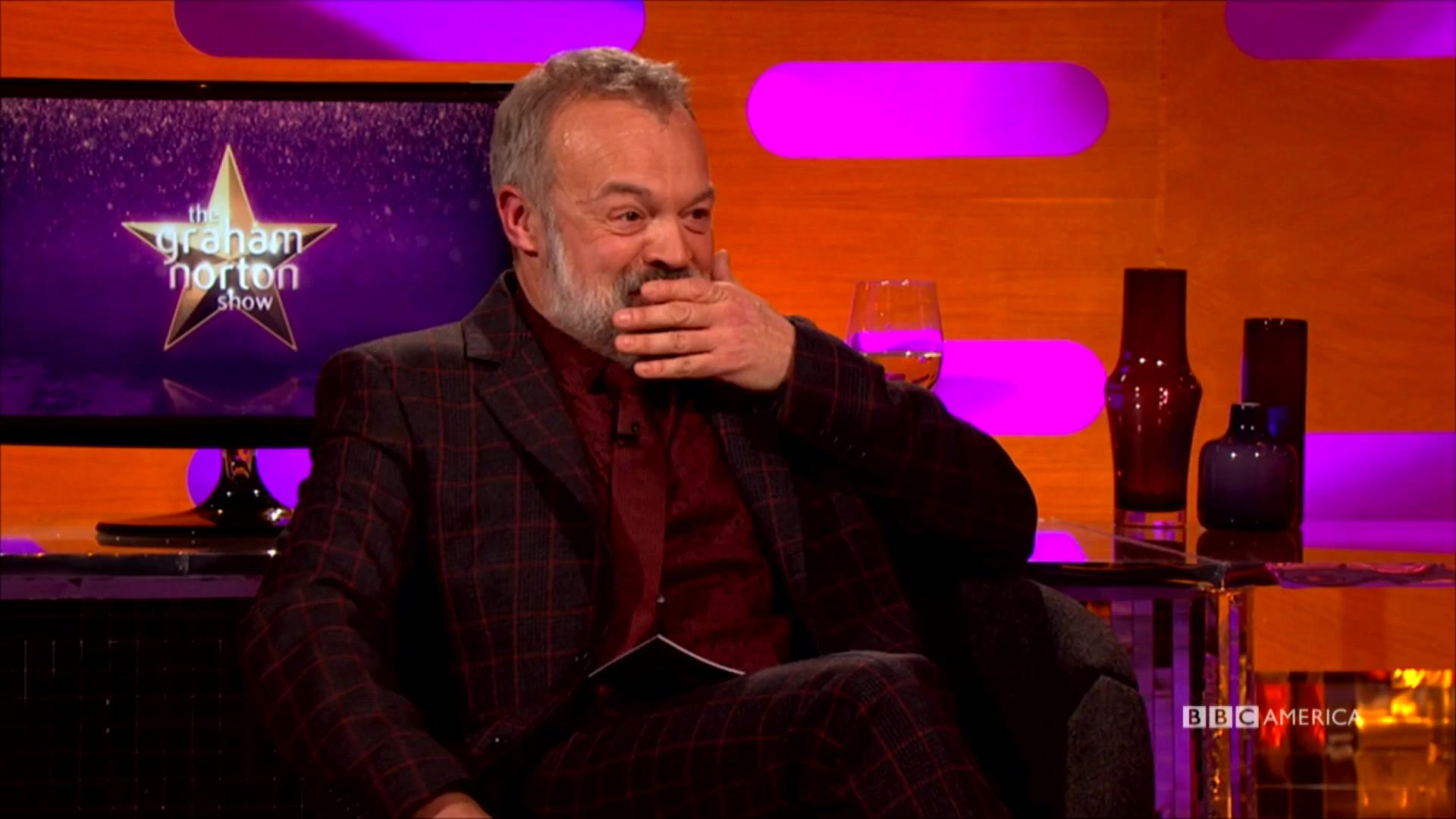 The Graham Norton Show features liquor served to guests