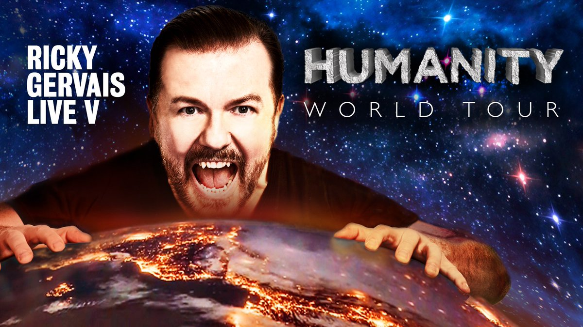 Ricky Gervais is one the best stand-up comedian in the UK